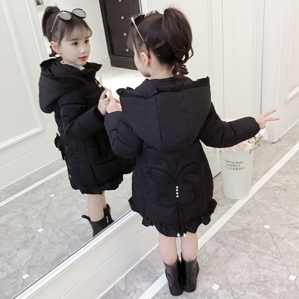 cec8183703f9 Winter New Warm Girls Thick Down Cotton Coat 3 4 5 6 7 8 9 10 11 12 ...