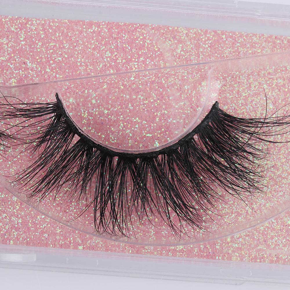 Natural 3D Mink Hair False Eyelashes Crisscross Strands Handmade Wispy Long Lashes Extension Eye Makeup Beauty Tools Wimpers
