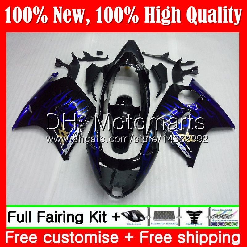 Обтекатель кузова для HONDA Blackbird CBR1100XX 96 97 98 99 00 01 53MT9 CBR1100 XX CBR 1100XX Blue flames 1996 1997 1998 1999 2000 2001