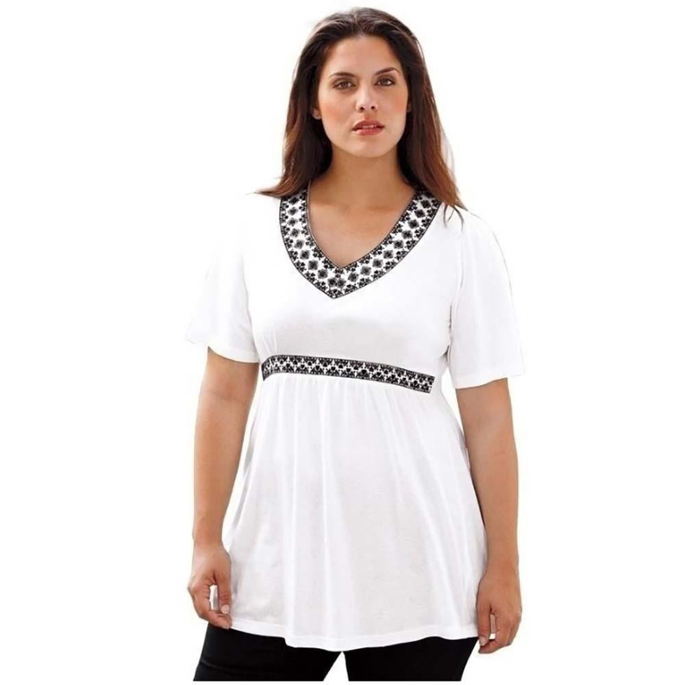 Donna Femme Acquista Plus Taglie Estate Corta Shirt Moda Manica A T srCQBhxtd