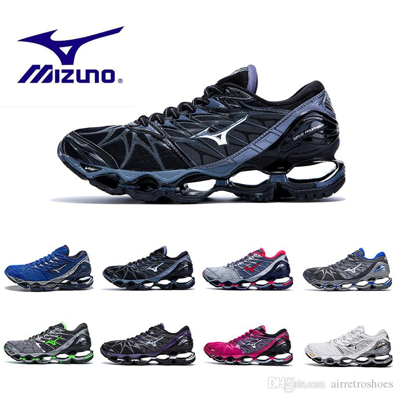 738bfed29a7664 2019 Original MIZUNO WAVE Prophecy 7 Professional Mens Shoes Outdoor Air  Cushioning Sport Sneakers Men Weightlifting Shoes Size 40 45 Running Shoes  For Men ...