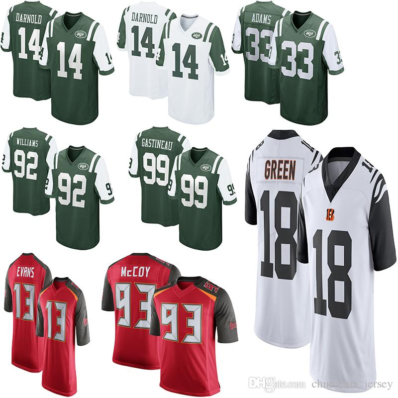 1acd89bee98 2019 Mens Tampa Bay Buccaneers Mike Evans Kwon Alexander Gerald McCoy Sam  Darnold Jamal Adams Williams Gastineau Bengals A.J. Jersey From  Chunghua_jersey, ...