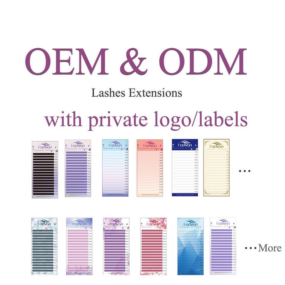 Private Logo DIY logo eyelash extensions personal eyelashes name eyelash  ODM OEM link 100cases