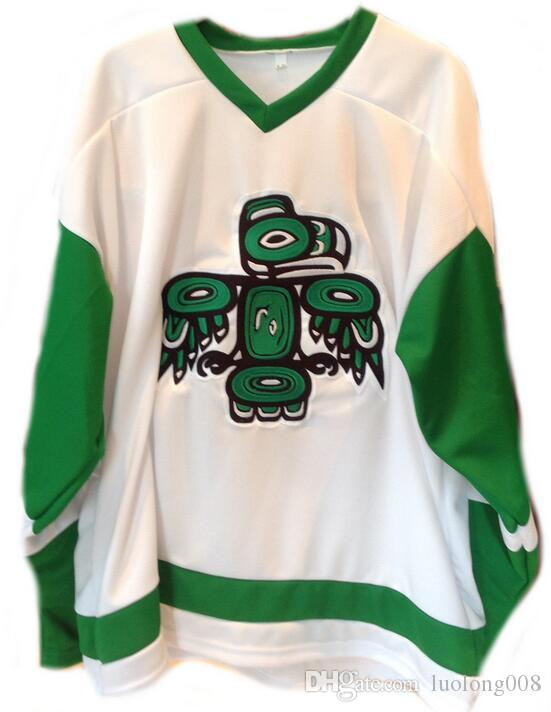 size 40 2a52f 2d1dc Rare Vintage SEATTLE TOTEMS HOME WHTIE Replica Hockey Jersey Embroidery  Stitched Customize any number and name Jerseys