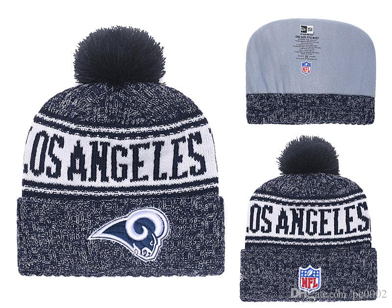 48f26efe703e5e 2019 Men'S Los Angeles Rams New Navy 2018 Sideline Cold Weather Official  Sport Gray Rebound Pom Cuffed Knit Hat 01 From Pc0002, $7.04 | DHgate.Com