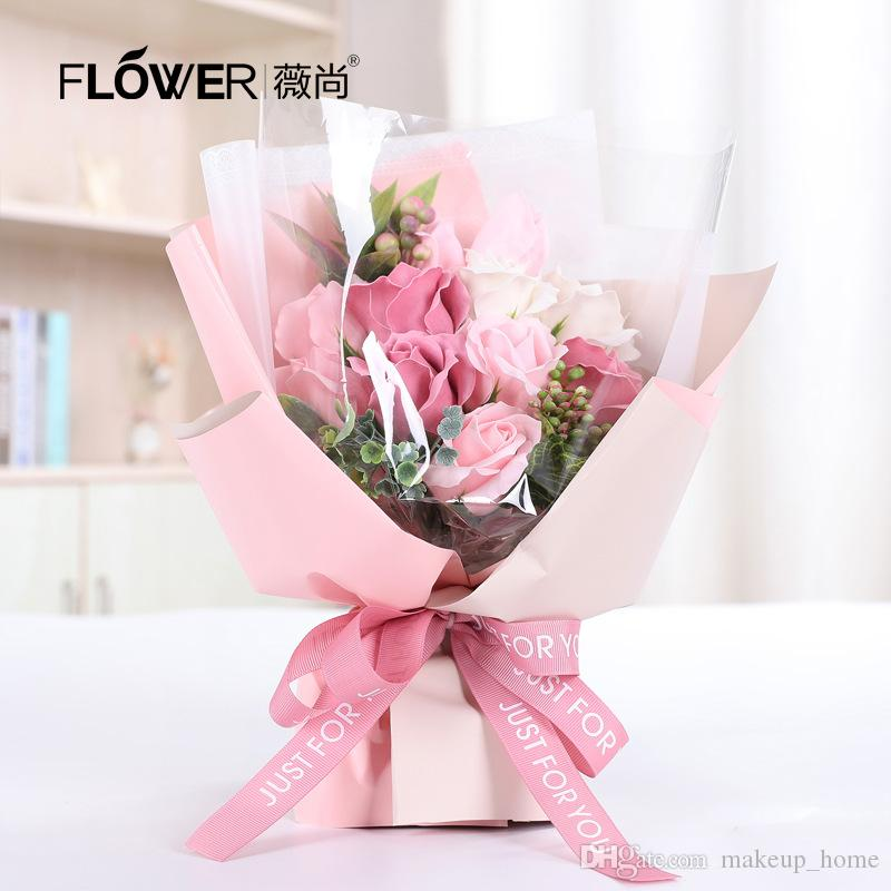 2019 Hot Soap Flower Gift Boxes Creative Teacher S Day Gift
