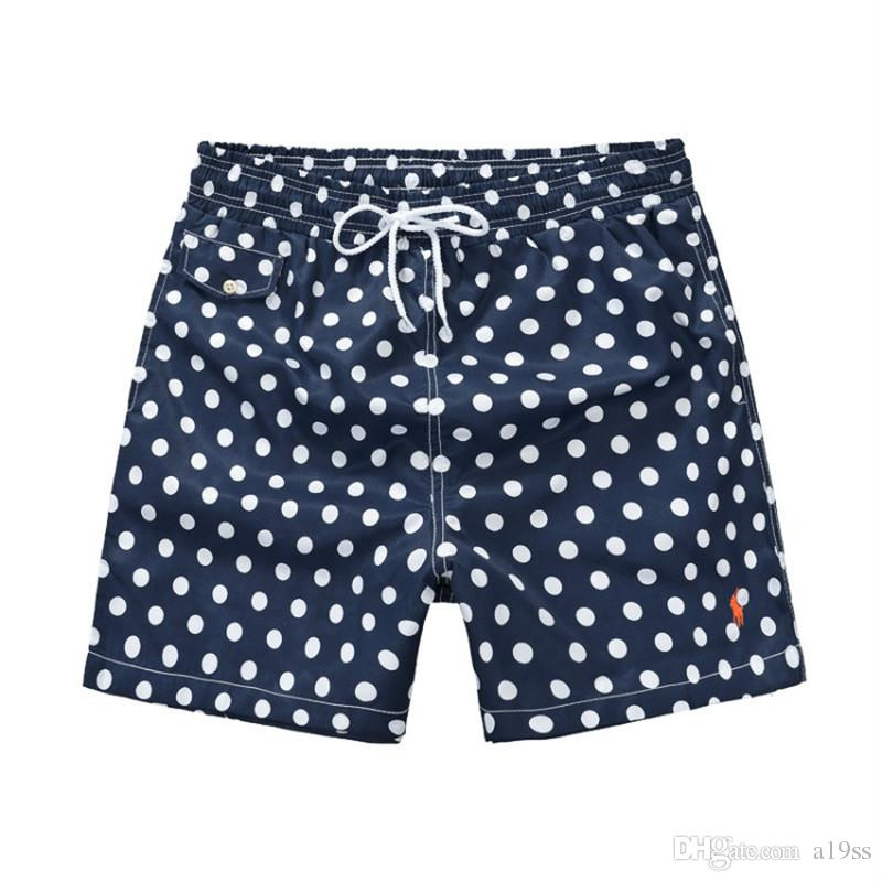 Top Fashion Dot printing Luxury Small Horse Men's Designer Beach shorts Surf Swim Sport Casual man Swimwear Sports Skate pants