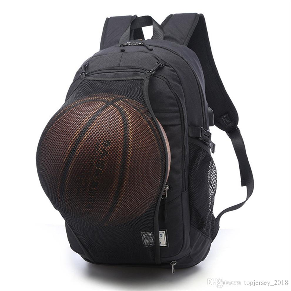 40e81d2a8d8 Gym Bags Sport Bags Backpack Men Basketball With USB Cable Outdoor Fitness  School Bag For Teenager Boys Soccer Ball Pack Gym Bag #149398