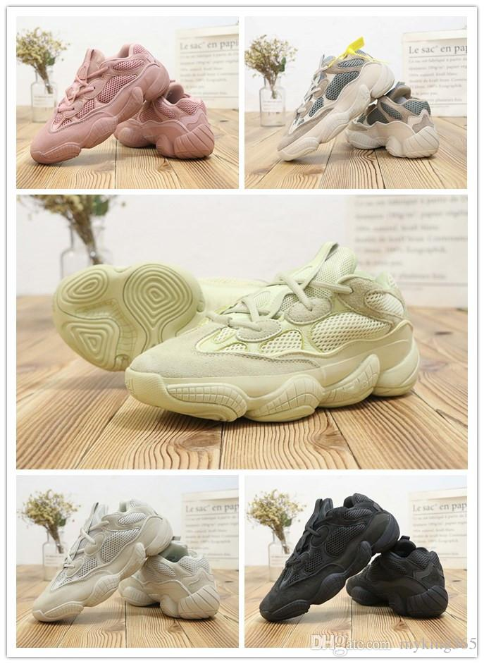 new product af059 cbcb5 Wholesale Utility Black Yeezy Desert Rat 500 Blush Super Moon Boost Yellow  Running Shoes Authentic Sports Sneakers DB2908 For Men Women