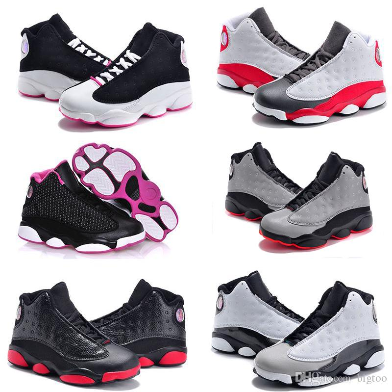 Online Sale Cheap New 13 Kids basketball shoes for Boys Girls sneakers Children Babies 13s running shoe Size 11C-3Y