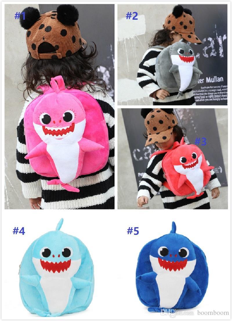 8ecc4ff1a3 Cartoon 3D PinkFong Plush Backpack School Bag Girl Boy Kids Children ...
