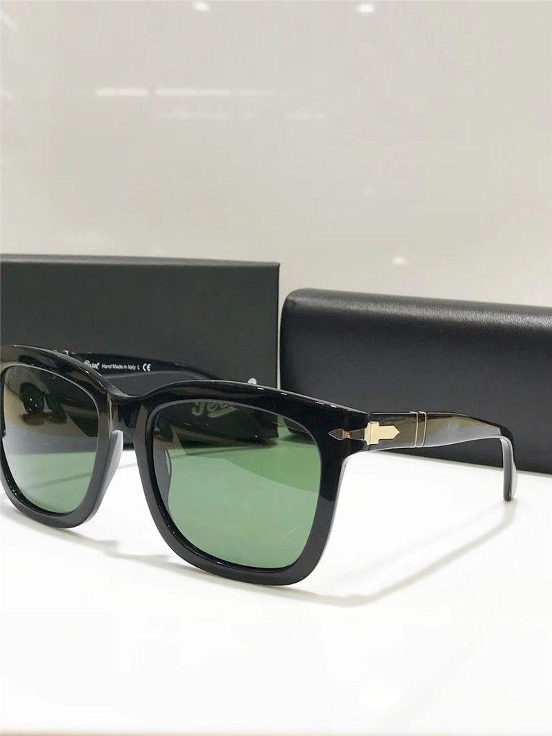 58a5911aaa Compre Luxury Persol Serie De Gafas De Sol Clásicas Estilo Italiano  Diseñador Gafas De Montura Cuadrada Gafas De Protección UV De Calidad  Superior Con Caja ...