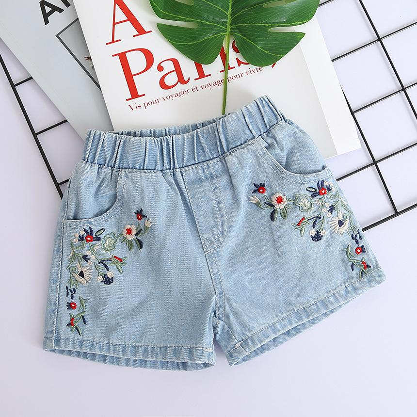 7a94bcf81dcd6 Kids Shorts Kids Embroidered Flowers Fashion Denim Shorts Girls Clothes  Wild Style Summer Promotions free shipping
