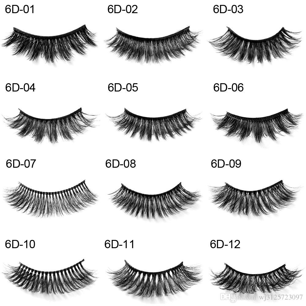 Handaiyan 1 Pair=1 Set 6D False Eyelashes Natural Thick Curly Long Eye Lashes Wispy Makeup Beauty Extension Tools Handmade 3D Mink Lashes