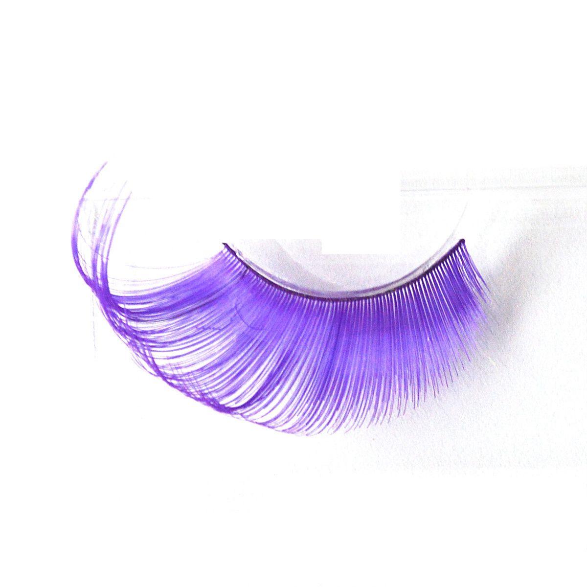 ce76264b640 False Eyelashes Handmade Purple Green Fake Lashes For Stage Festival  Colorful Long False Eyelashes Eye Makeup Beauty Tools GGA1760 Eyelash  Extensions Makeup ...
