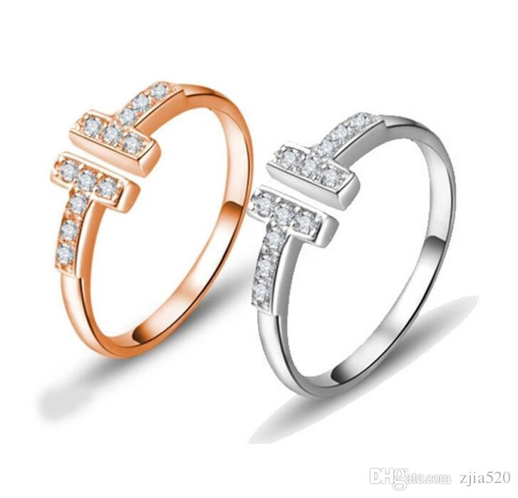Have Stamps Popular Fashion Brand T Designer Ring For Lady
