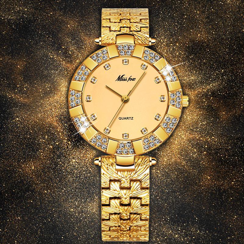Compre MISSFOX Relojes De Mujer De Marca De Moda De Moda Casual Señoras Reloj  Mujer Diamante De Cuarzo Ginebra Señora Pulsera Relojes De Pulsera Para ... dbe3e7d463e3