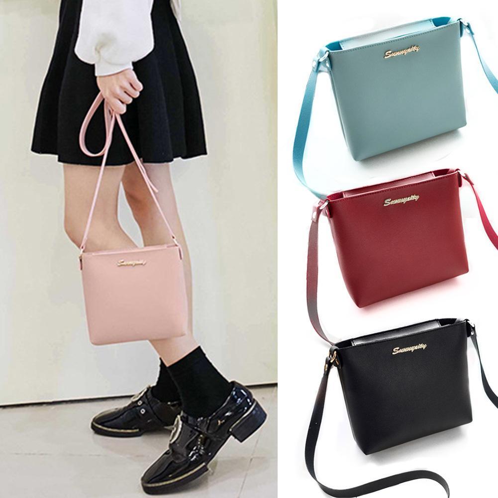 Cheap 2019 Women Mini Zipper Crossbody Bags Girls Cute Messenger Phone Bag  Pink Black Small Korean Style Shoulder Handbag Bolsas Feminina Shoulder Bags  ... b19243e333