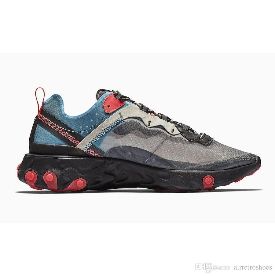 Volt Royal Günstige Tint Total Orange React Element 87 Laufschuhe Für Frauen Männer Dunkelgrau Blau Chill Trainer 87s Sail Sports Sneakers