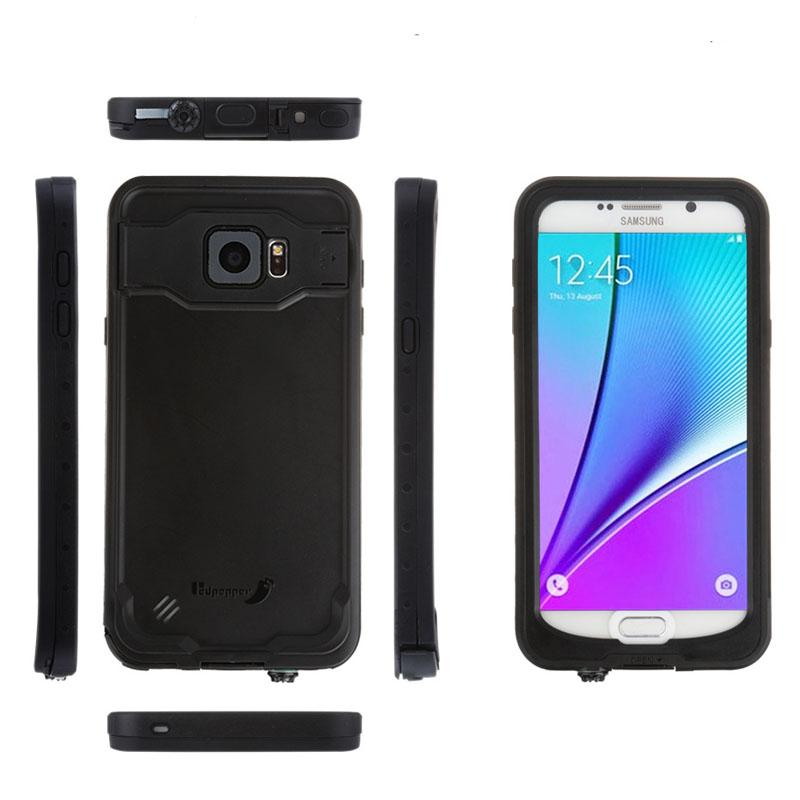 best website 2da3d cb33b Waterproof Swimming Diving Phone Case for Samsung Galaxy Note 5 Shockproof  Phone Cover with Kickstand Built-in Screen Protector