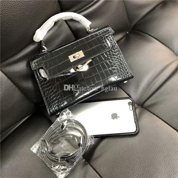 Classic Fashion MINI Patent Leather Alligator Handbag Shoulder Bag ... a0c61f73f1