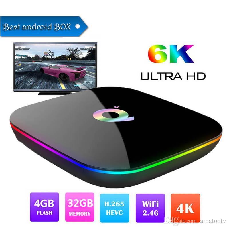 Allwinner H6 Android 9 0 TV Box 6K Ultral HD Streaming Media Player 4G 32G  Quad Core Smart Mini PC 2 4G Wifi Q Plus Set Top Boxes USB 3 0