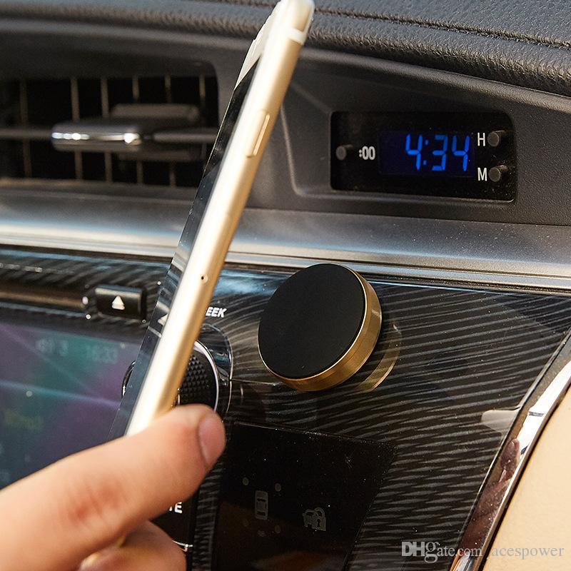 Универсальный мини-воздушный вент Магнитная гора Мобильный телефон Держатель Магнит Handfree автомобильные металлические держатели для Samsung