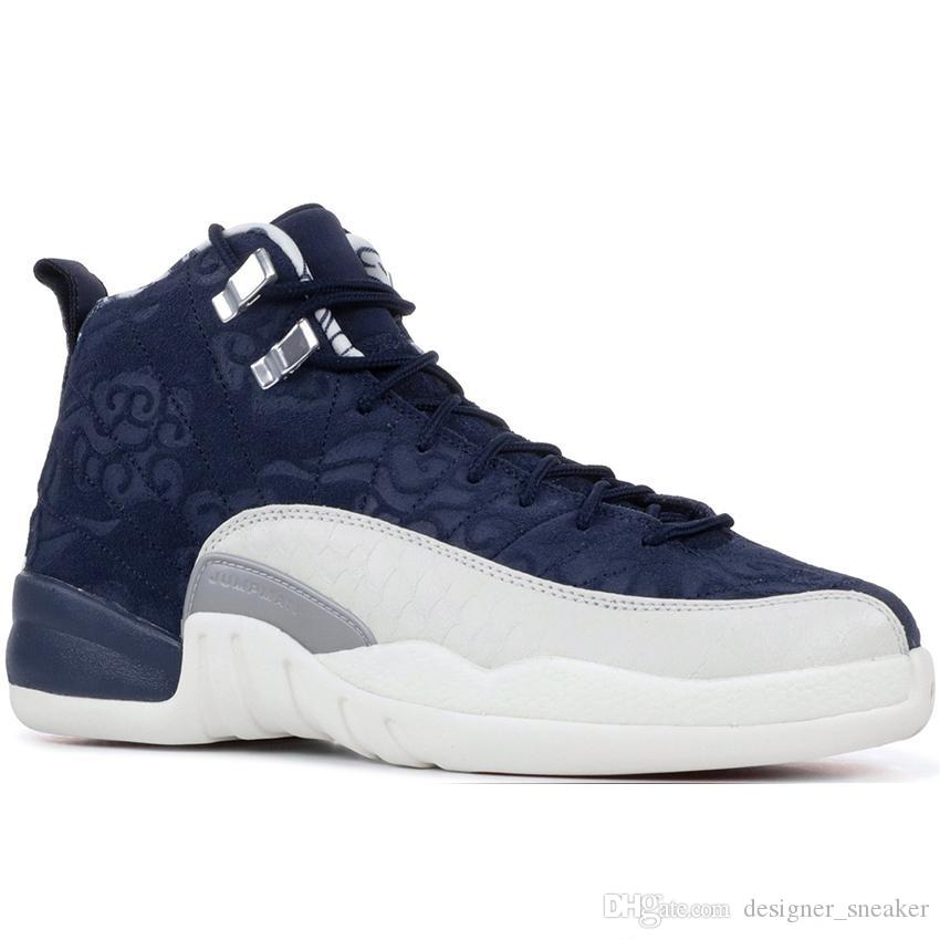 low priced 0e63d f0ea6 Scarpe Running Brooks Nike Air Jordan 12 Jordans 12s Retro Michigan 12  Vachetta Tan 12s College Navy Uomini Scarpe Da Basket Tori UNC Flu Gioco Il  Maestro ...