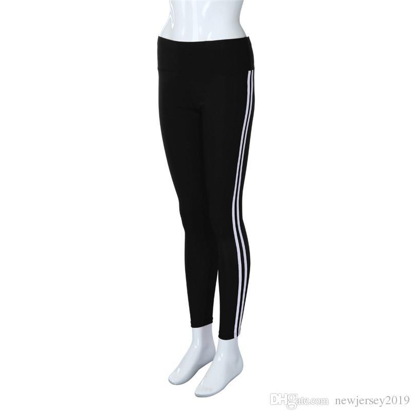 3cfec9b0d49f7 2019 Women Yoga Pants Running Fitness Sport Elastic Tights High Waist Leggings  Training Pants Gym Sports Jogging Trousers #F40ST19 #256530 From ...