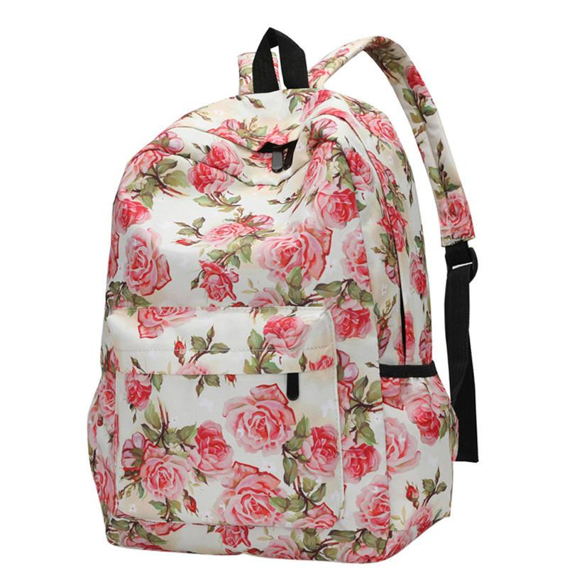 992933dd6 Backpack Female School Bags For Girl Nylon Backpacks Floral Print Bag  Flowers Mochila Feminina Travel Backpack 3# Backpacks For Men Jansport Big  Student ...