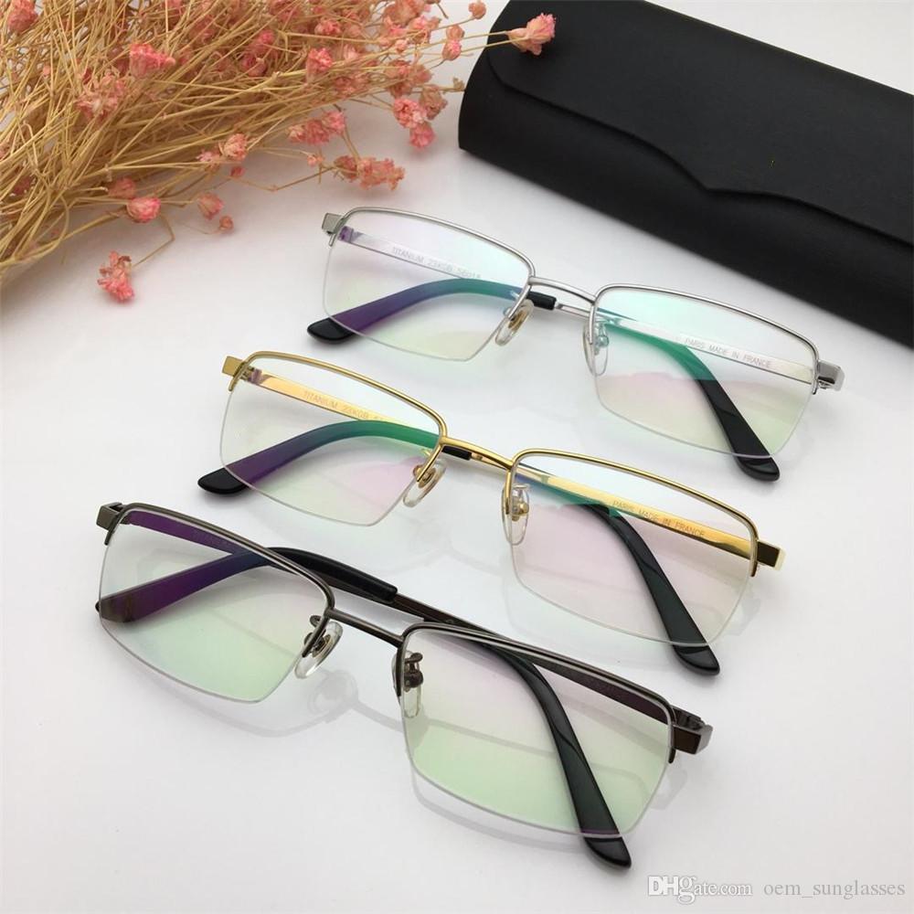 3a95f8e0559a 2019 New Titanium Myopia Glasses Luxury Men Brand Fashion Half Frame ...