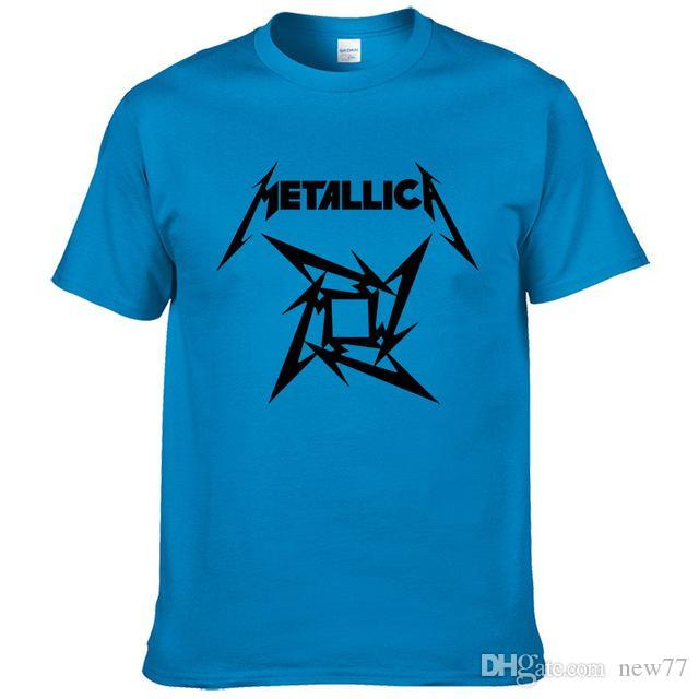 3fb1b2b42 2019 Womens Luxury Designer T Shirts Summer Fashion Mens Heavy Metal Rock  Metallica T Shirt Man Short Sleeve Rock Classic Cotton T Shirts T Shirt  Shopping ...
