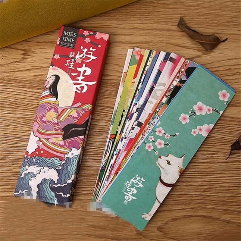 2019 30pcs/lot Cute Kawaii Paper Bookmark Vintage Japanese Style Book Marks For Kids School Materials