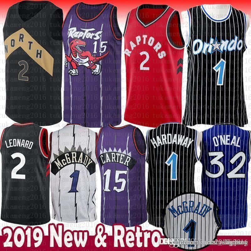 6deffda0fe2 2018 Toronto 2 Kawhi Leonard Jersey Raptors 15 Vince Carter Tracy McGrady 1  Penny Anfernee Hardaway Orlando 32 Shaquille From Good sports shoes