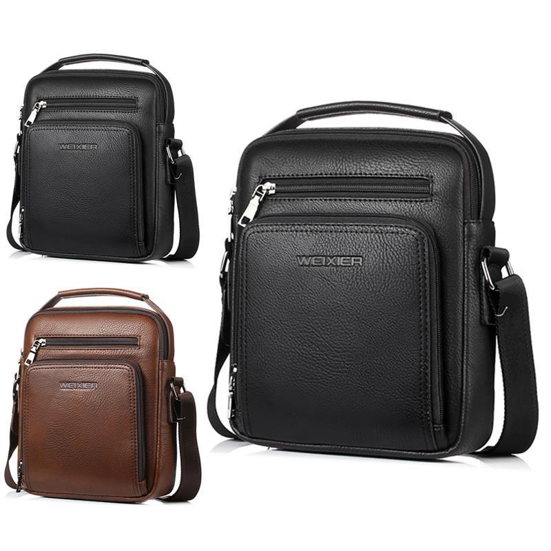 34fd70c9375a Retro Messenger Bag Men Shoulder Bag PU Leather Small Male Man ...