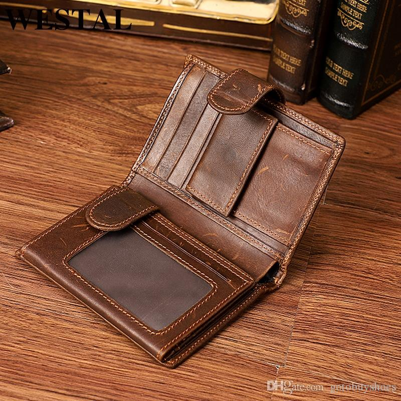 e57df31ce674 WESTAL RFID Genuine Leather Short Men S Wallet Cowhide Walet Wallets Male  Coin Purse For Men Made Of Genuine Leather 8301  124829 Womens Credit Card  Wallet ...