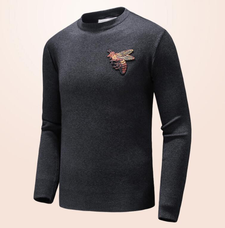 25bec00140a New Style Brand Letter Embroidery Knitwear Winter Mens Clothing Crew ...