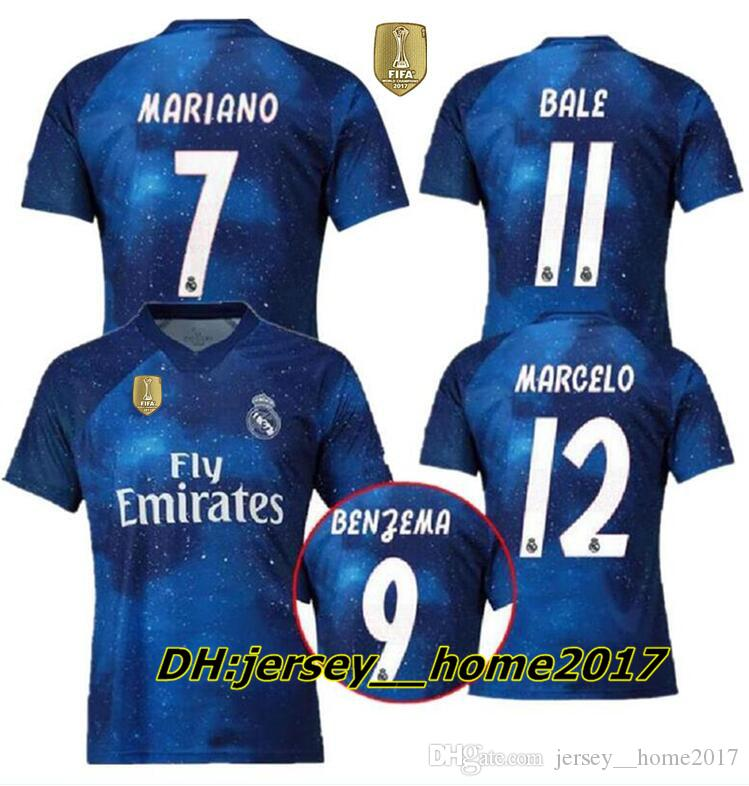 best service 256e5 a14bc 2018 2019 Real Madrid Limited Edition soccer Jersey Blue EA Sports Jerseys  #12 MARCELO #10 MODRIC Real Madrid special version football Shirt