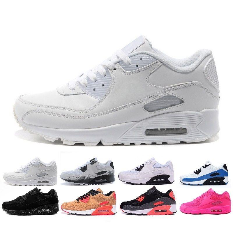 87b1b6f7d9b Nike Air Max 2019 Diseñador De Alta Calidad 90 De Malla Mujeres Zapatos  Para Hombre Auténtico Negro Rojo Blanco Zapatillas Deportivas Zapatos  Atléticos ...