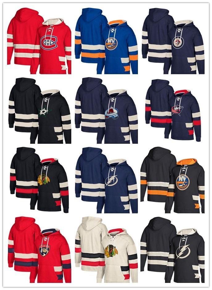4be295466 Custom Hockey Hoodie Pullover Winnipeg Jets Dallas Stars New Jersey ...