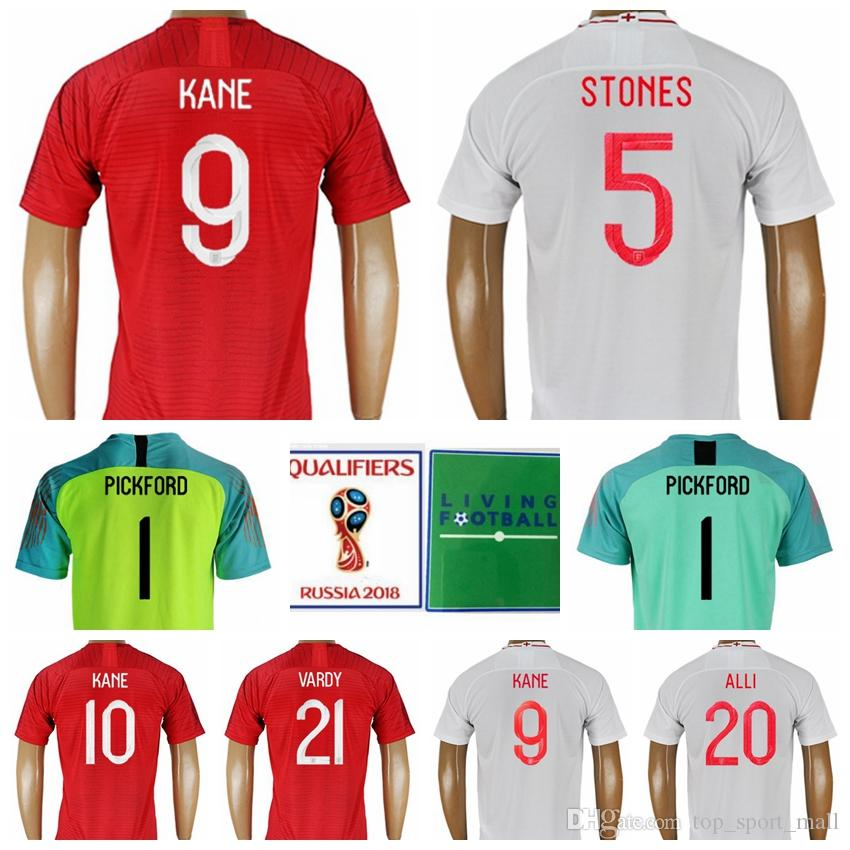 72a5a255d 2019 2018 World Cup 9 KANE Soccer Jersey 10 STERLING Men Football Shirt Kits  14 WELBECK 5 STONES 2 WALKER White Custom Name Number From Top sport mall