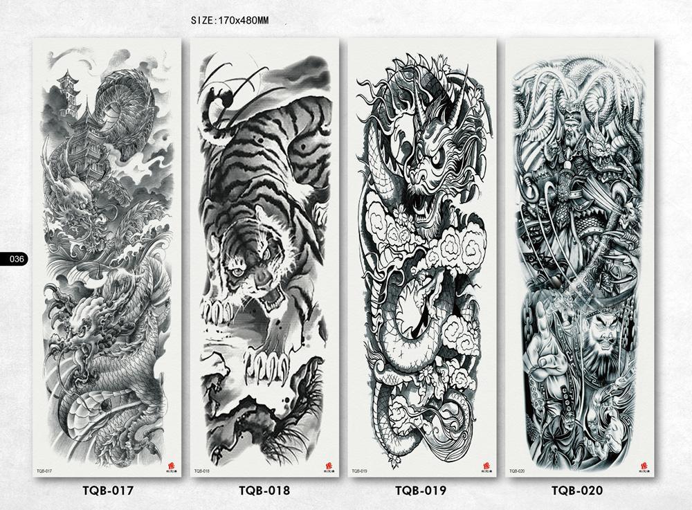 Tatuaggio temporaneo impermeabile del tatuaggio del braccio del braccio del rosa della manica del braccio del ferro di grandi dimensioni Autoadesivo completo del tatuaggio di Tatoo Body Art degli uomini del fiore
