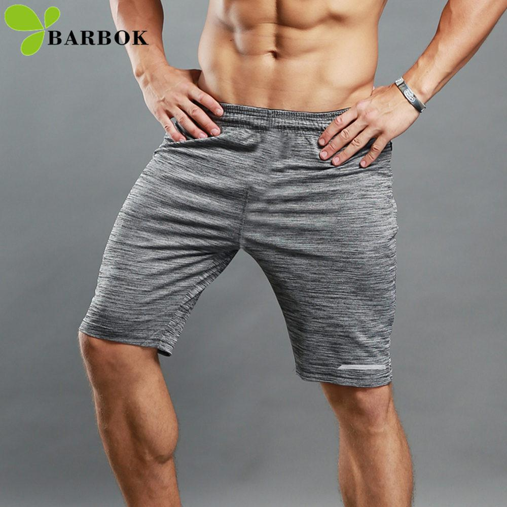 e28af4d56b65ee Barbok Men's Sports Shorts Running Short Pants Jogging Tights Sportswear Workout  Breathable Fitness Clothing Gym Wear Tracksuit C19042201