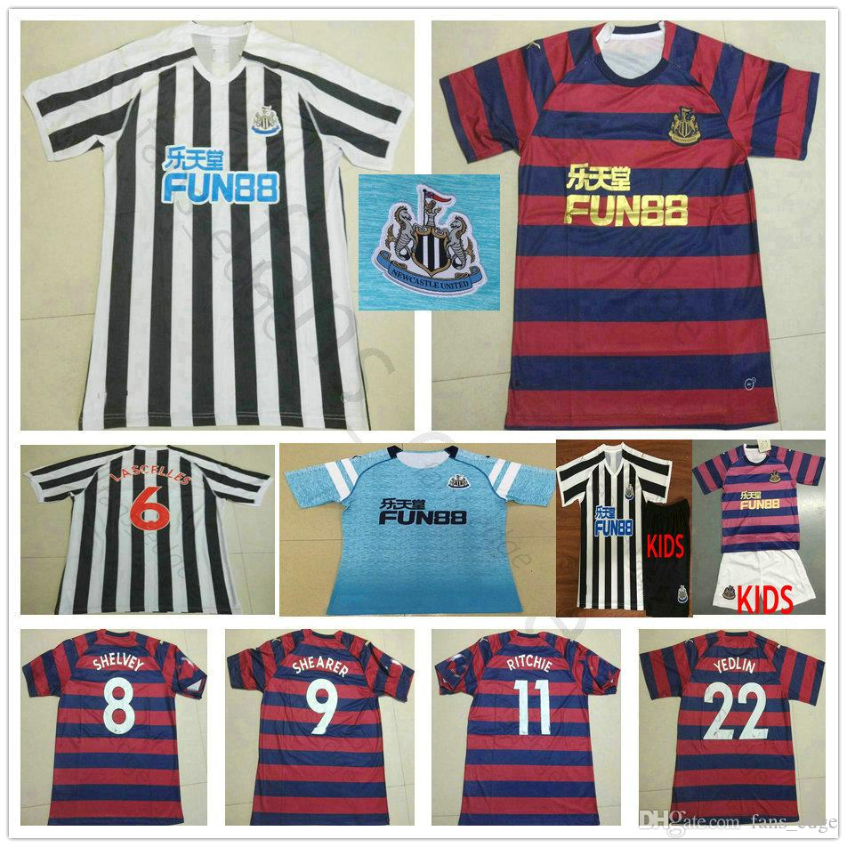 a7bf92fac 2019 2019 New United Soccer Jerseys 6 Lascelles 8 Shelvey Ritchie Yedlin  Mitrovic Custom Home Away 18 19 Adult And Kids Football Shirts From  Fans edge