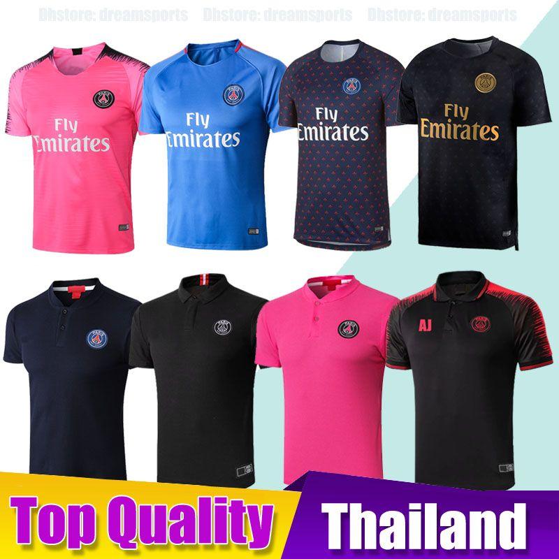 f172c2e34 2019 PSG Soccer Training Shirts Maillot De Foot 18 19 MBAPPE Soccer ...