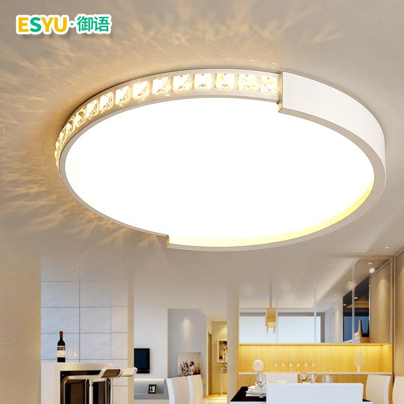 Reasonable 18w 24w Crystal Flush Mounted Led Ceiling Lights Modern Round Ceiling Lamp For Living Room Bedroom Dining Room Fixtures Lights & Lighting