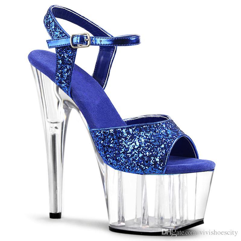 luxury designer women shoes fashion high heels purple PVC transparent pumps 15cm size 34 to 40