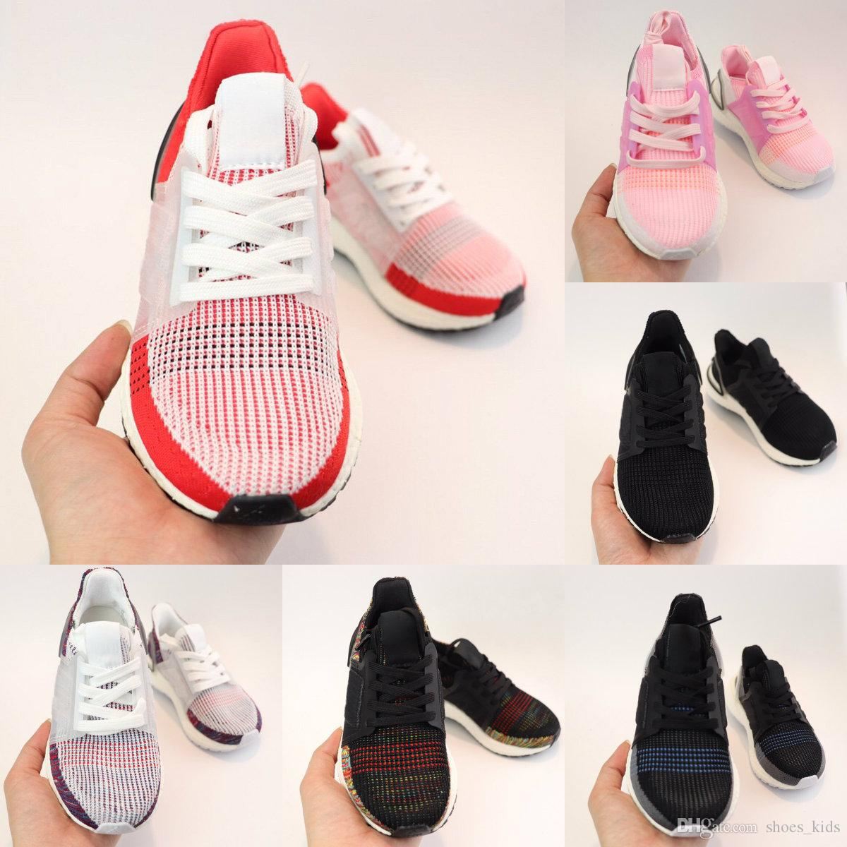 2019 Kids Shoes Ultra 5.0 Triple Chaussures Baskets Enfants Boy Girls Running Shoes Trainner Sport Sneakers Black Red Pink