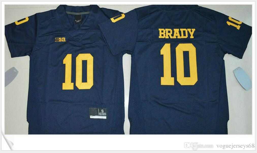 Michigan Wolverines Kids  10 Tom Brady Kansas Womens Color Rush Lengend  15  Patrick Mahomes Stitched Embroidery American Football Jerseys Cheap American  ... fbc421d9d