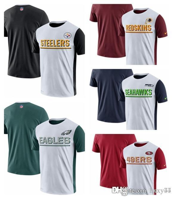Washington Redskins Seattle Seahawks San Francisco 49ers Çelikçiler Pittsburgh Philadelphia Eagles Champ Sürücü 2.0 Performans T-Shirt